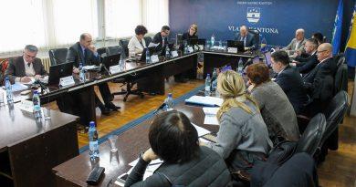 ODRŽANA 13.SJEDNICA VLADE USK U pripremi dokumentacija  za  izradu Prostornog plana USK 2012-2032.